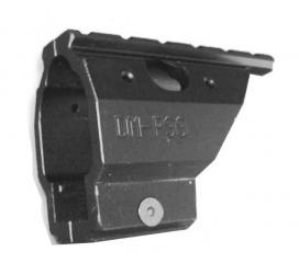 Rail de montage aluminium pour Walther p99 p990 noir