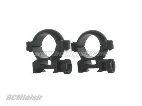 Anneaux de montage pour carabine plomb 25,4X6X11 mm