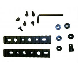 rail picatinny pour gardemain M4/M733/M16a2 (x2) avec vis