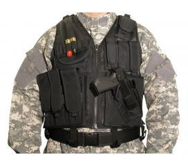 Veste tactique filet avec holster et ceinturon