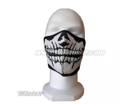 Masque néopréne demi type tête de mort noir