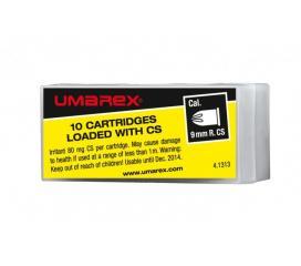 10 cartouches à gaz 9 mm R