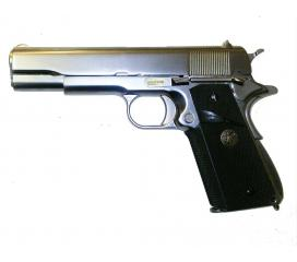 M1911 matte cecke grip full metal chrome GBB WE