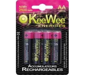 Piles Rechargeables Nimh HR06 / AA 2500mah (x4)