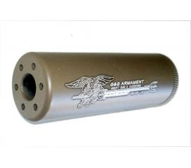 SS-100 Sound suppressor Desert Navy Seals silencieux metal 14mm Anti Horaire