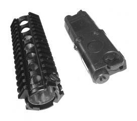 Garde main RIS metal + boitier de batterie pour Colt M4