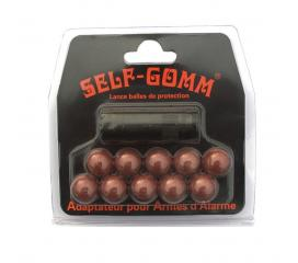 Adaptateur Self Gom Cogne metal avec 10 balles caoutchouc