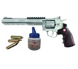 "Ruger super hawk 8"" revolver chromé co2"