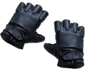 Demi gants SWAT en cuir noir King Arms