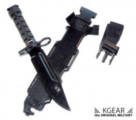 Baionnette M4 commando noir + étui factice en plastique