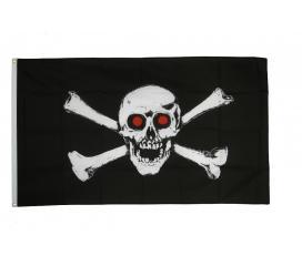Drapeau Pirate yeux rouges 90 X 150 cm