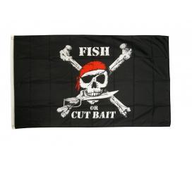 Drapeau Pirate FISH OR CUT BAIT 90 X 150 cm