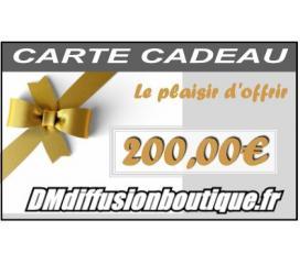 Carte Cadeau Airsoft d'une valeur de 200,00 €