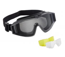 Masque de protection tactical grillagé Elite Force avec 2 ecrans