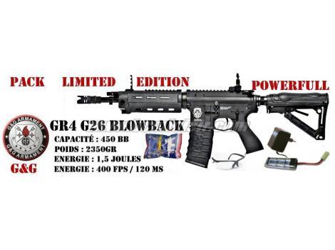 Pack GR4 carbine G26 blowback by G&G black
