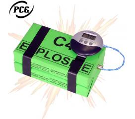 Bombe factice Plastic C4 avec minuteur