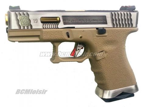 G19 G-Force T4 Metal Slide Silver Gold Tan GBB WE