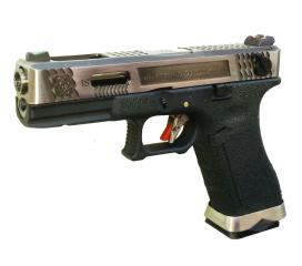 G18 G-Force T7 Metal Slide Silver Silver Black GBB WE
