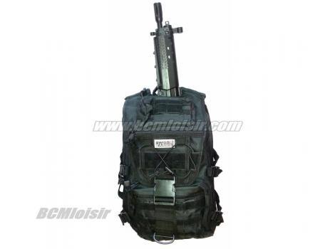 Sac a Dos Commando Multi Poches noir pour fusil Swiss Arms