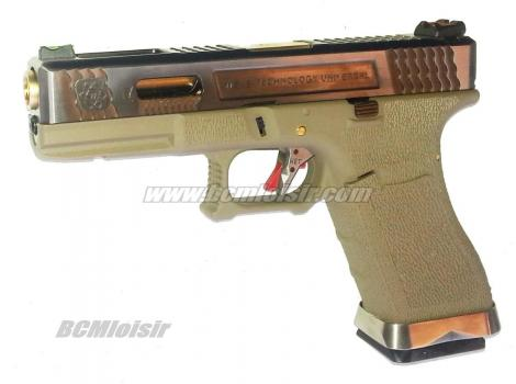 G17 G-Force T4 Metal Slide Silver Gold Tan GBB WE