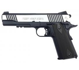 Colt 1911 Rail Gun Dual Tone Full Metal Blowback CO2