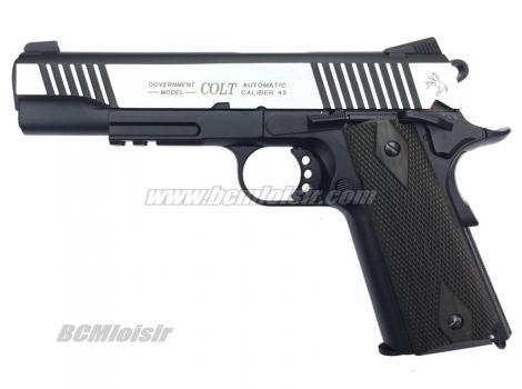 Colt 1911 Rail Gun Dual Tone Full Metal Blowback CO2
