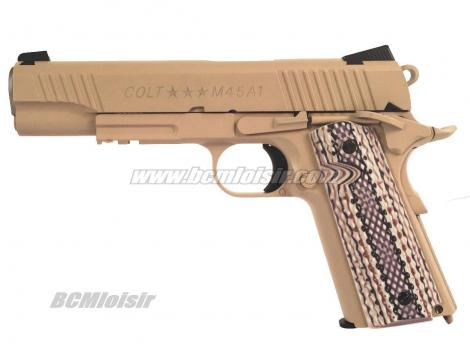 Colt 1911 M45 A1 Rail Gun Tan Full Metal Blowback CO2