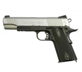 Colt 1911 Rail Gun Stainless Dual Tone Full Metal Blowback CO2