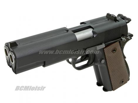 WE 1911 Dueller Double Canon Full Metal Black Gaz Blowback