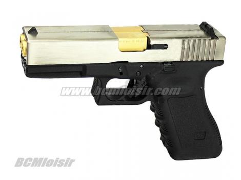 G17 Gen 3 Double Canon Silver Gas Blowback WE