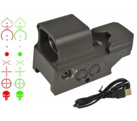 Holosight Rechageable Swiss Arms 8 reticules Rouge et Vert