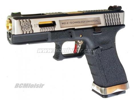 G17 G-Force T3 Metal Slide Silver Gold Black GBB WE