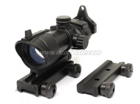 Lunette Point Rouge et Vert Acog 1X32 Black Double Rail