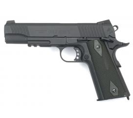 Colt 1911 Rail Gun Black Full Metal Blowback CO2