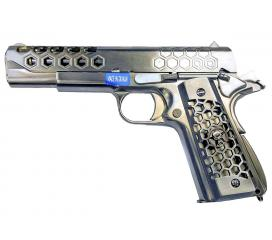 M1911 Hex Cut Full Metal Chrome GBB WE 0,9 J