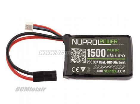 Batterie LI-PO 7,4 V Compact 1500 Mah Nuprol