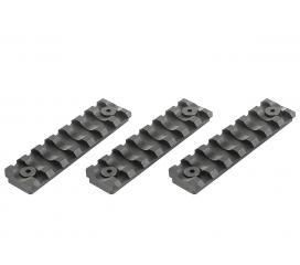 Kit de 3 Rail QRS Keymod 7 Slots Picatinny VFC