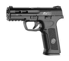 XAE Pistol Black Leopard Eye Metal Slide Gaz Blowback ICS
