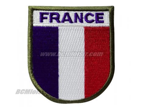 Ecusson Patch France Auto Agrippant Velcro
