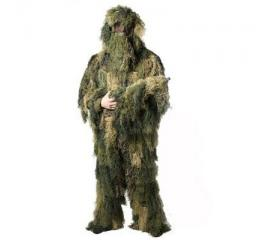 Tenue Ghillie camouflage avec sac de transport (4pcs)